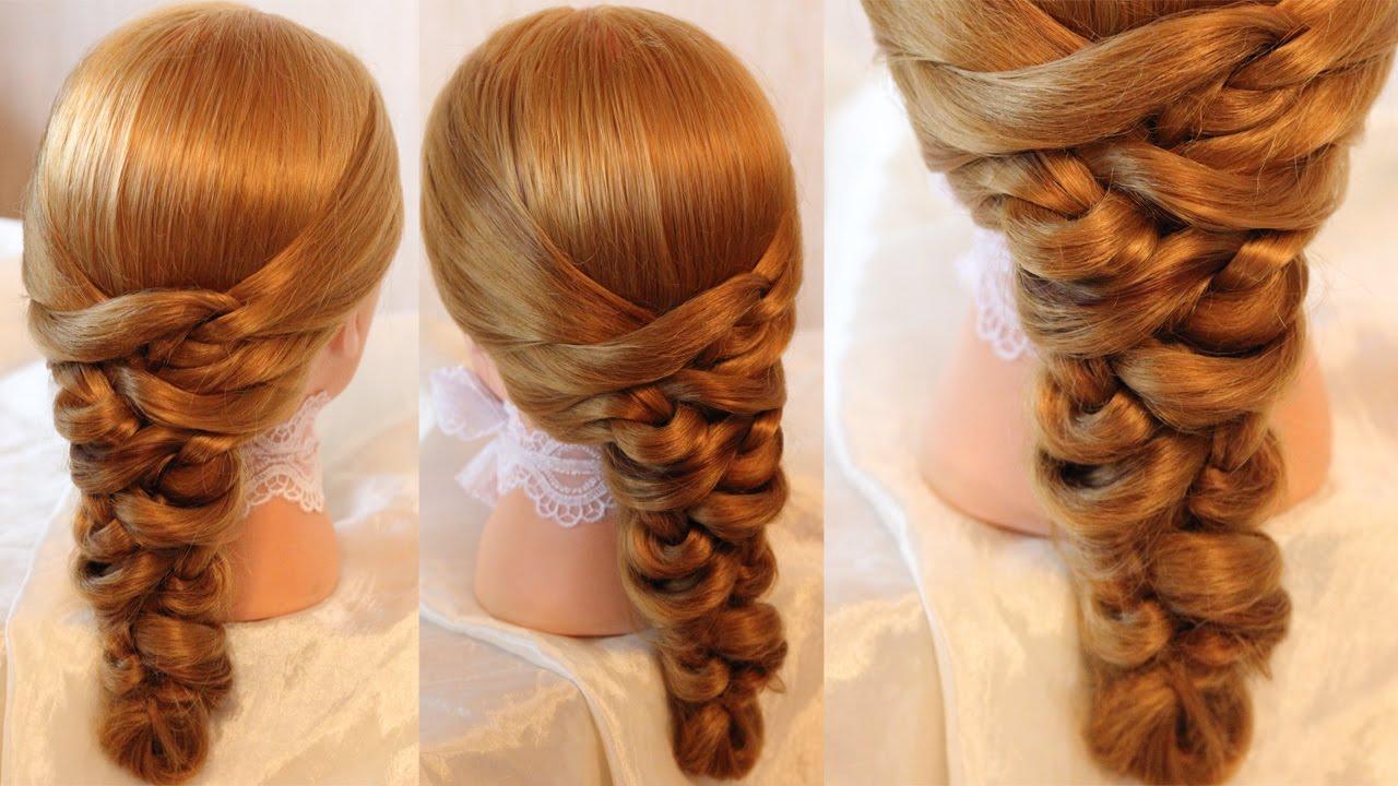 Косички на средние волосы объемные пошагово