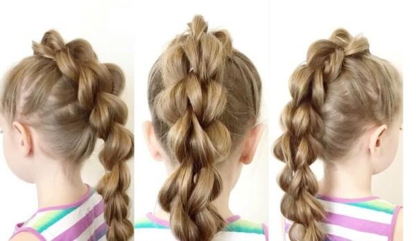 Объемная коса с разных ракурсов