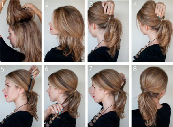 Прически для тонких волос средней длины на каждый день