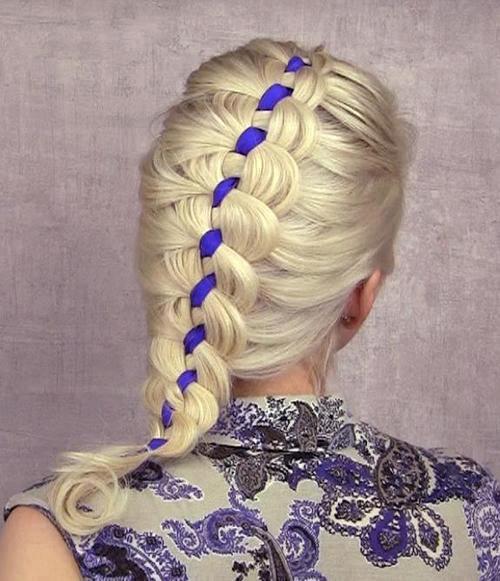 Очаровательное плетение с лентой