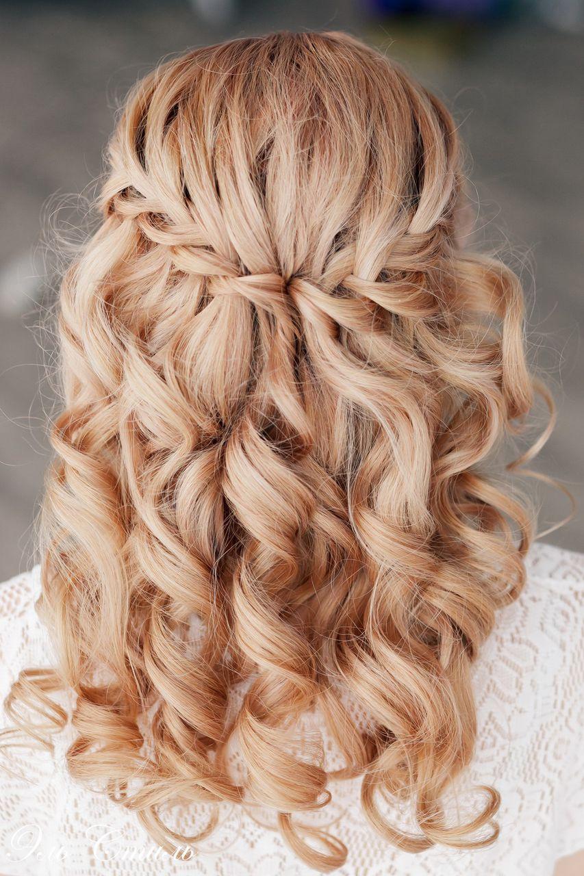 прически на длинные волосы с плетением и кудрями