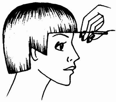 Окантовка волос имеет четкие