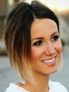 фото покраска омбре на средние волосы