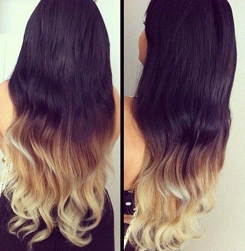 Осветление концов волос