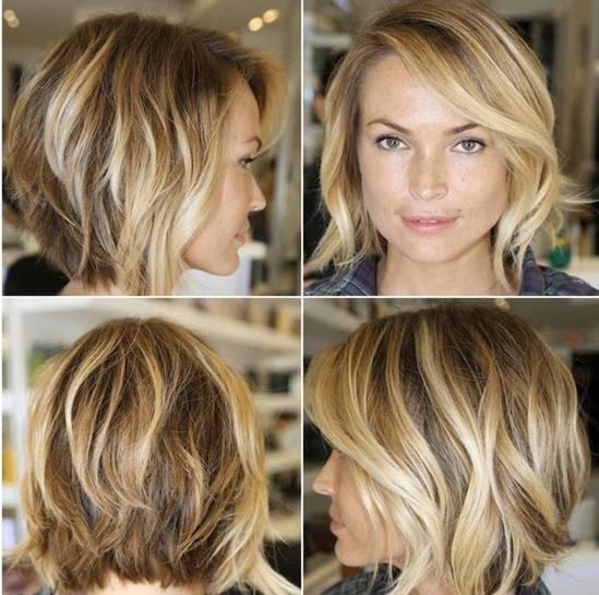 Амбре на короткие русые волосы