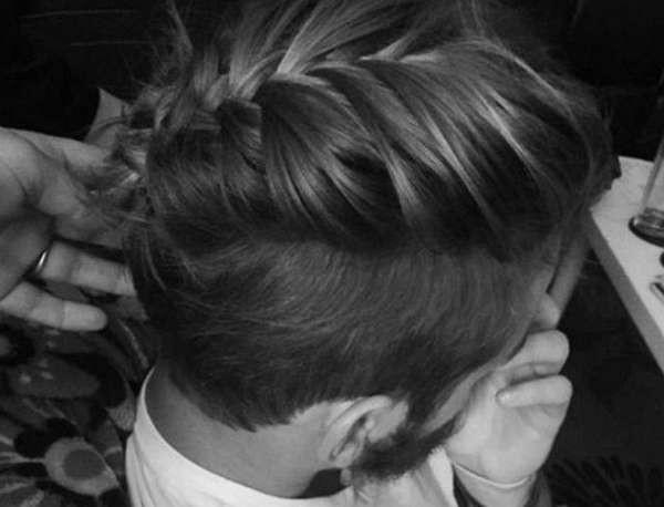 Оригинальное сочетание косы и бороды в мужском образе