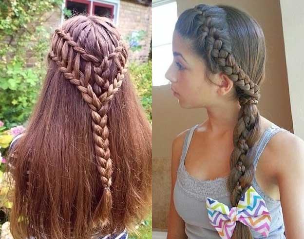 повседневные прически из кос на длинные волосы