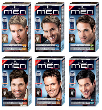 Черная краска для волос мужская