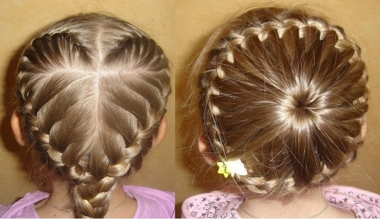 Видео плетение волос для детей