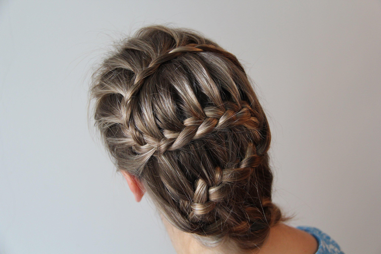 схема плитения колосков из волос обучение фото