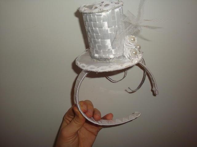 Шляпка цилиндр на ободке своими руками 78