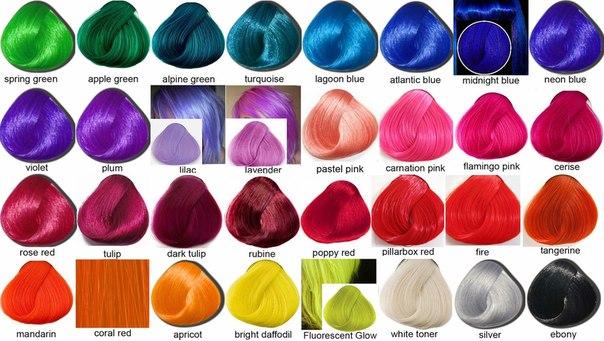 Синяя краска для волос купить