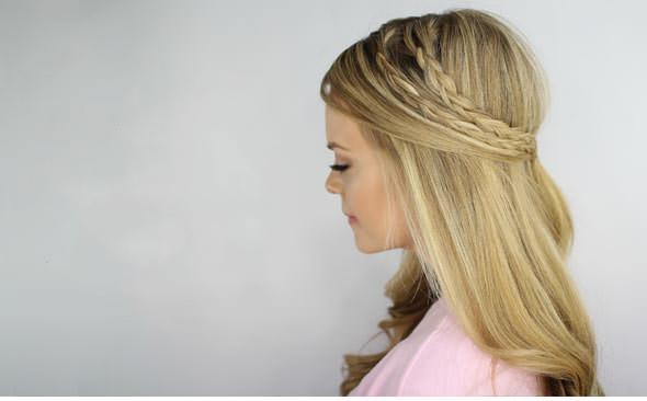 Плетение косы в стиле бохо шик