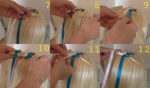 Плетение оригинальной косы