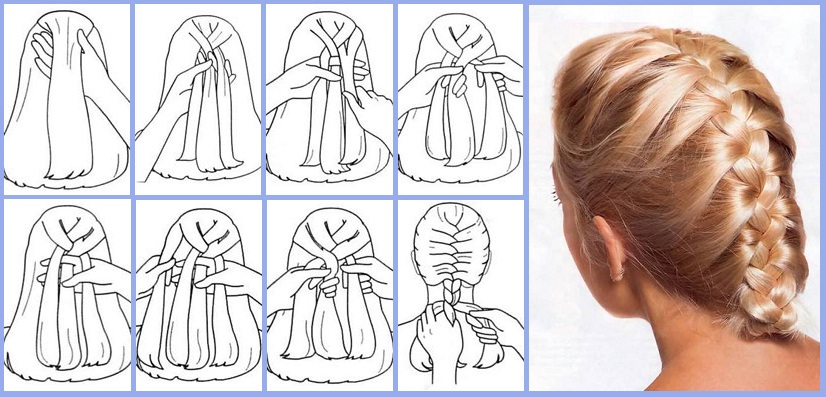 Коса с резинками пошагово схемы