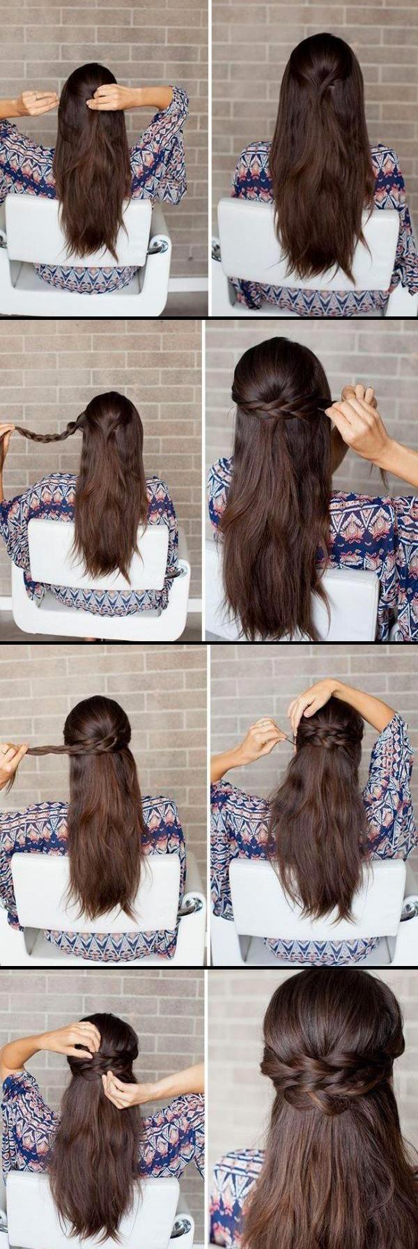 Причёска на длинные волосы своими руками густых