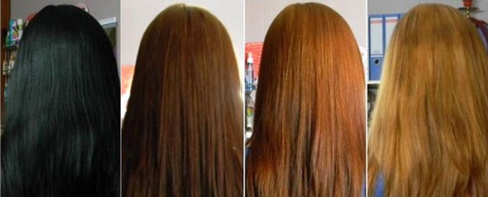 После окрашивания волосы смывать шампунем