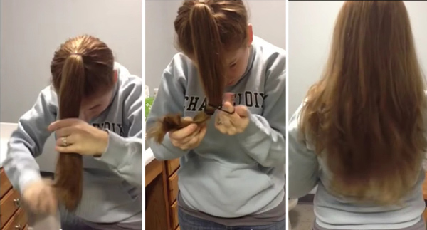 Стрижка волос своими руками фото