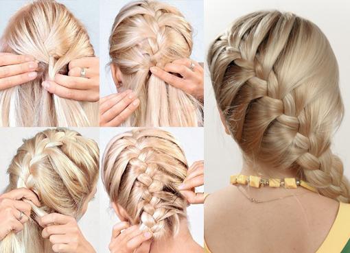 Понять, как заплести косу как колосок, но по диагонали, не сложно, последовательность действий почти идентична обычной французской косе