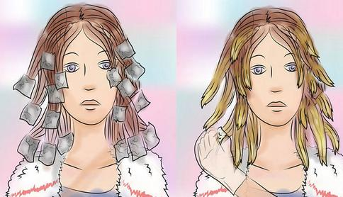 После нанесения каждого вида краски волосы обматываются фольгой