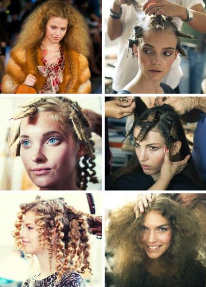 Последовательность завивки на шпильки (чем длиннее ваши волосы, тем больше должны быть шпильки)