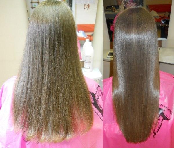 Правильно проведенная процедура выпрямления – это гладкие и блестящие волосы