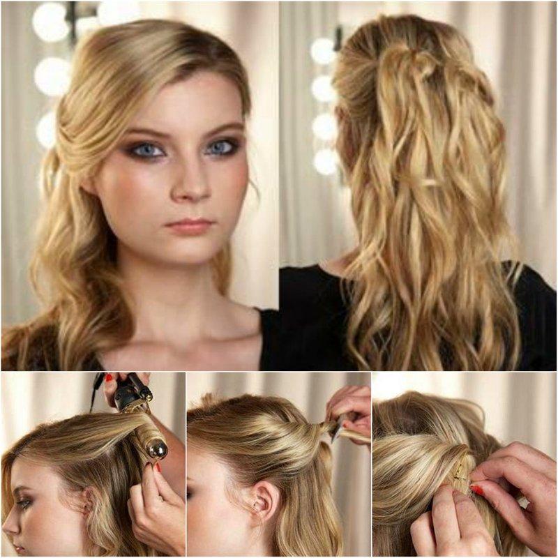 как красиво заколоть распущенные волосы
