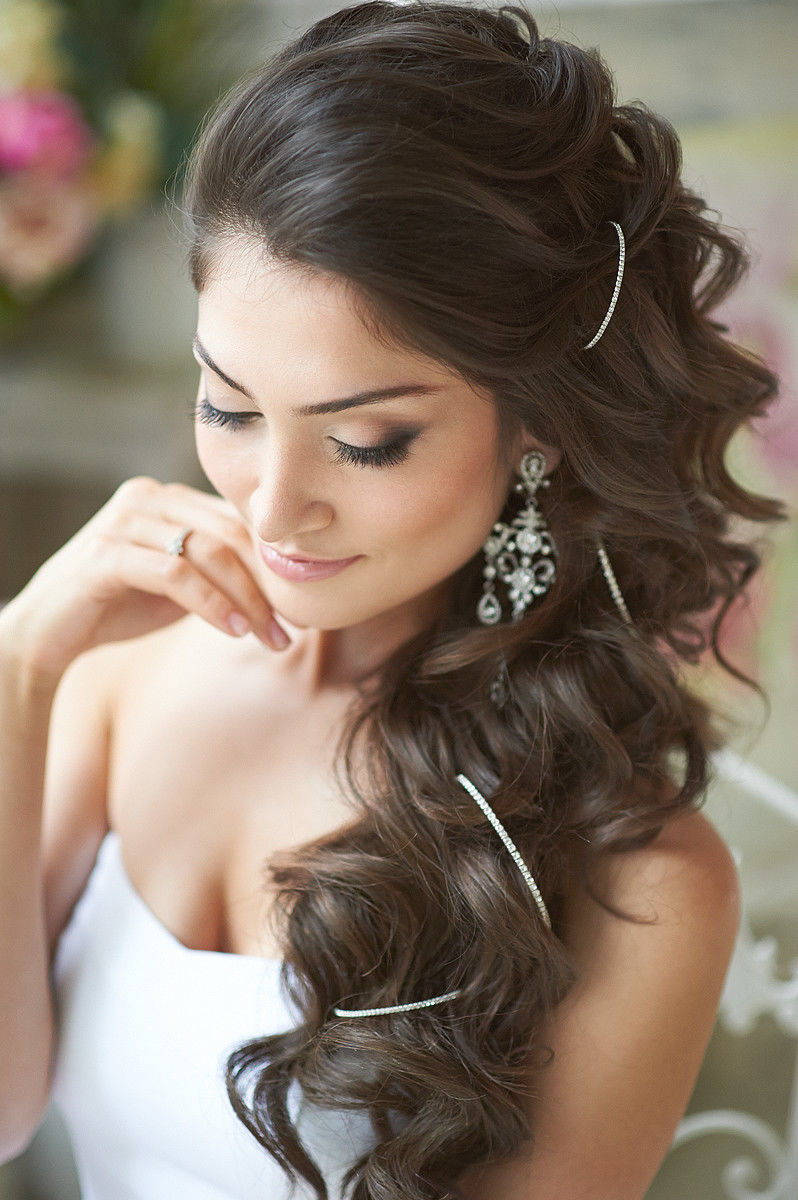 укладка свадебная на средние волосы фото