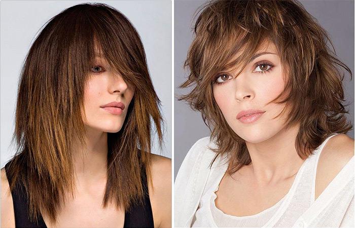 Стрижка паж на средние волосы с челкой фото