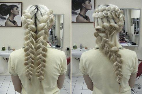 Прически колоски на длинные волосы смотрятся поистине шикарно.
