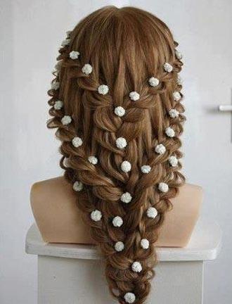 Косы на средние волосы ажурные косы