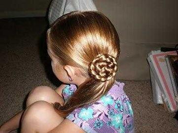 Пример розы из волос