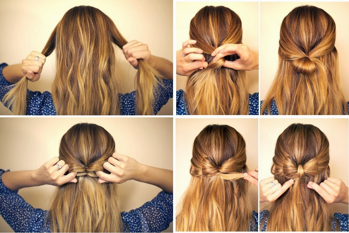 Прически на средние волосы дома пошагово