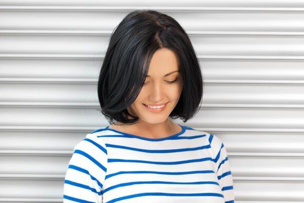 Стрижка без чёлки на короткие волосы