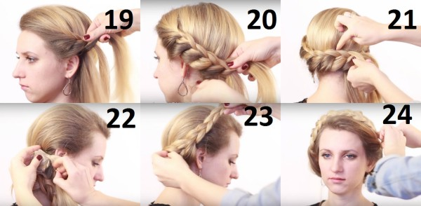 Процесс плетения косы