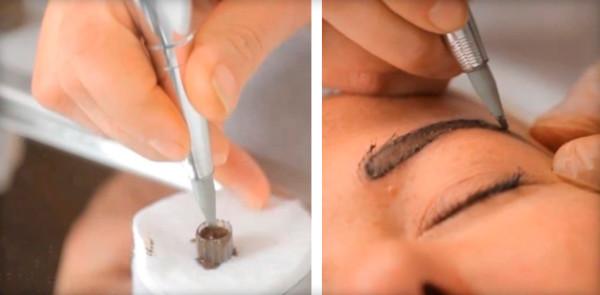 Процесс прорисовки волосков.