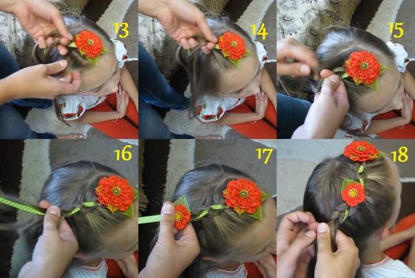 Процесс создания косички