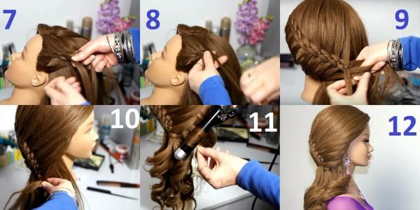 Процесс создания красоты на волосах