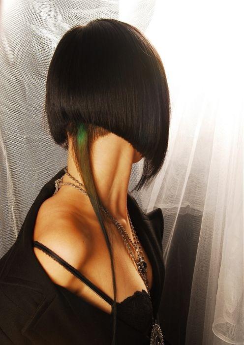 Брюнетки с причёской каре