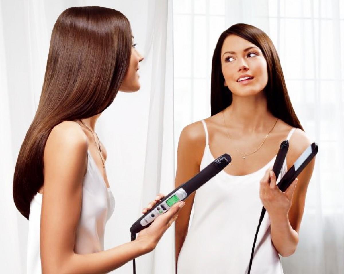 Как придать объём волосам утюжком
