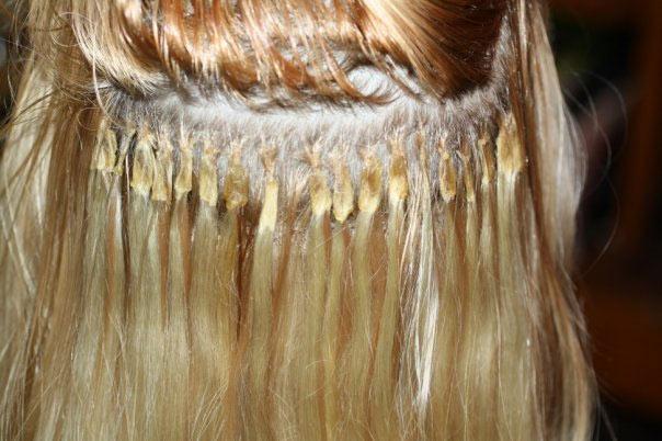 Как выглядят волосы после наращивания волос