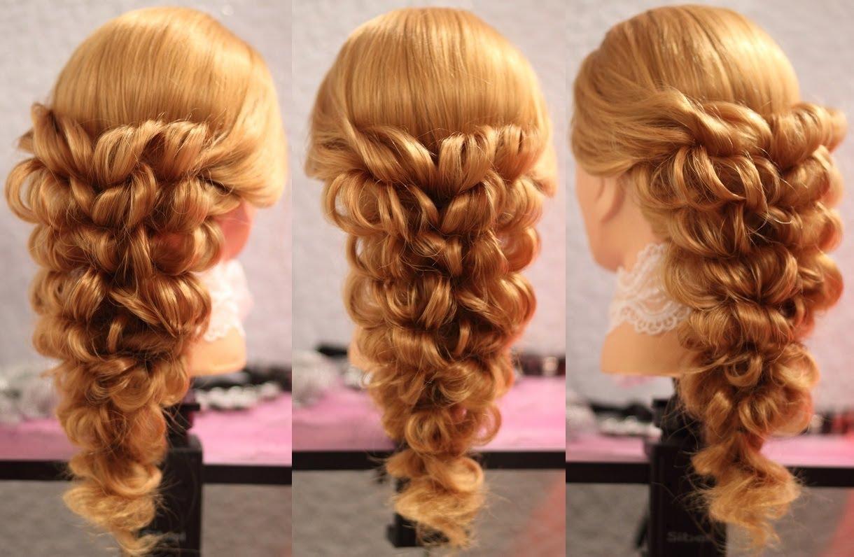 причёски плести из волос схема