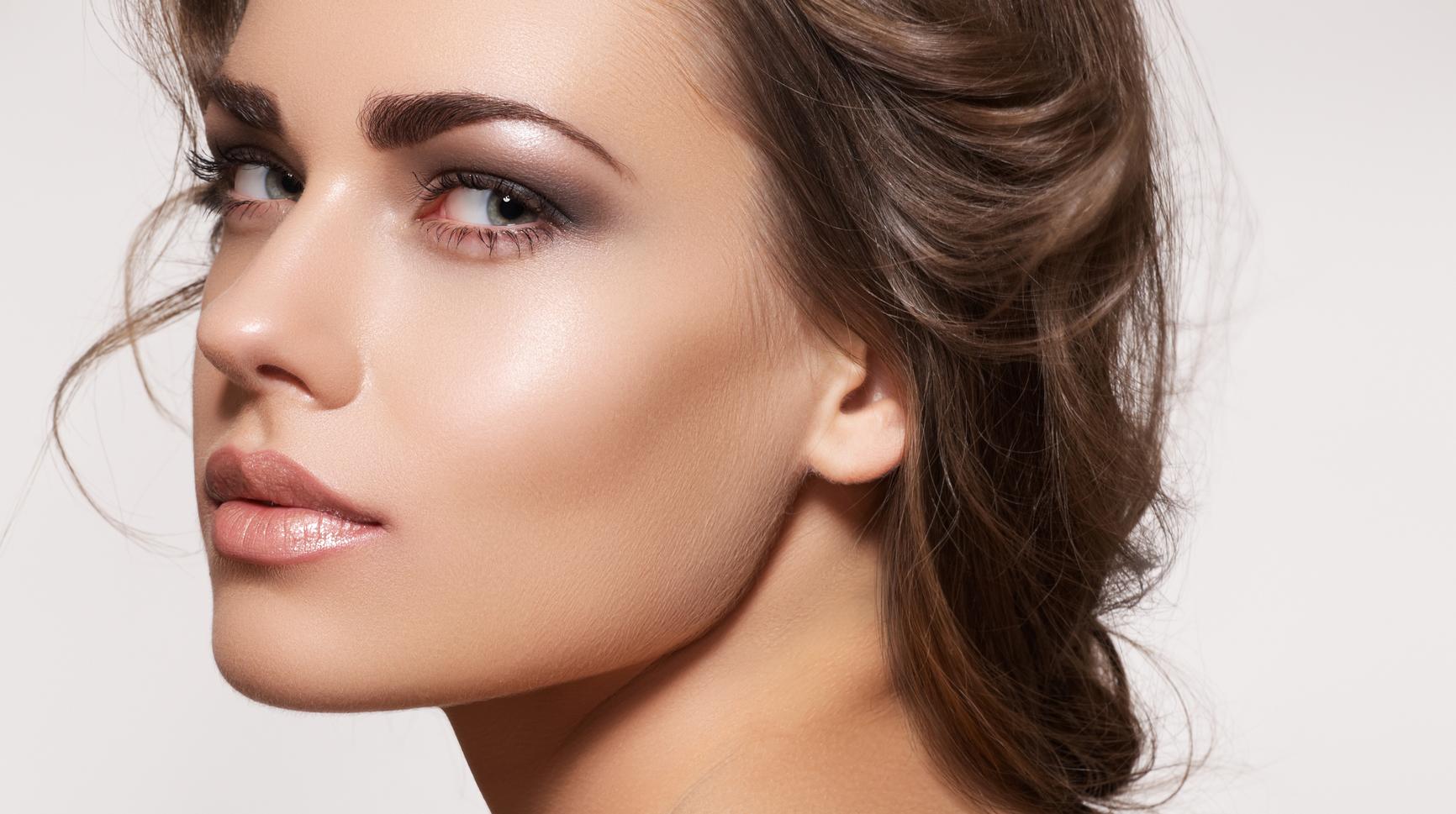 Фотошоп макияж для бровей
