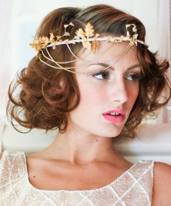 Свадебные прически волосы фото короткие