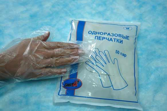 Полиэтиленовые перчатки своими руками