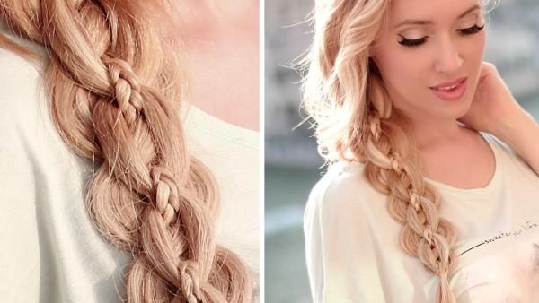 Ажурные косы (35 фото) на длинные волосы, плетение французской косички с лентой, фото причесок, видео