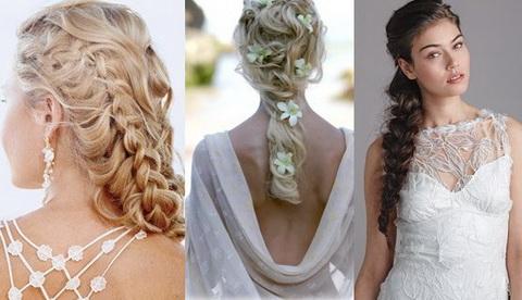 С помощью плетения можно создать красивый, изысканный и утонченный образ невесты.