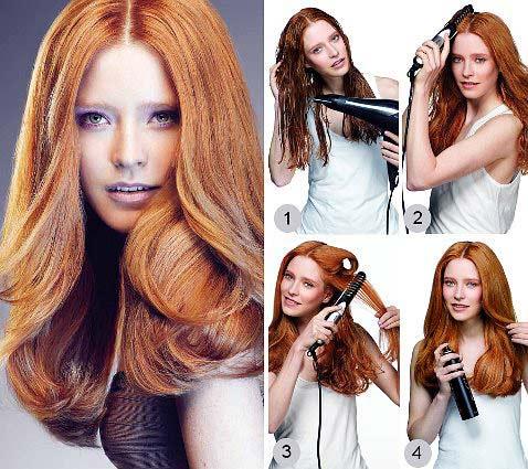 Как сделать укладку средние длину волос
