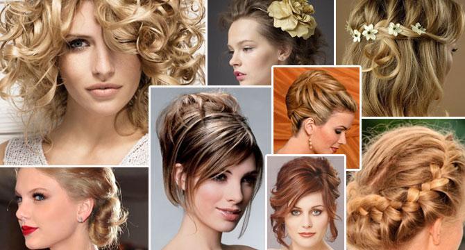 Смотреть с прическами на средние волосы
