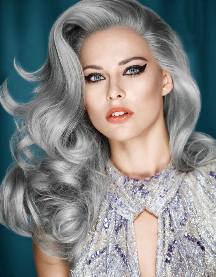 Цвет волос серебристо пепельный фото